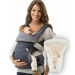Ergobaby 360 + Infant Insert, Dusty Blue