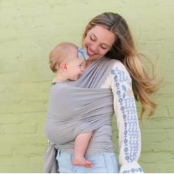 Boba Wrap, Serenity Light Grey
