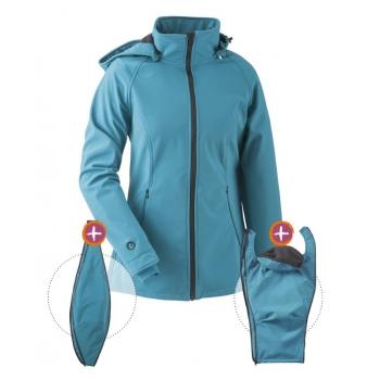 Jaka Softshell Babywearing 3in1 (MAMALILA, petrol)