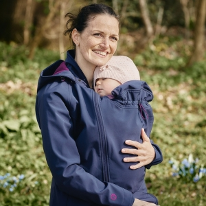 Jaka Softshell Babywearing 3in1 (MAMALILA, navy-berry)