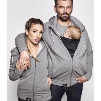 Parent's Hoodie - dzemdību, bērnu nēsāšanas, mīļākā, LOVE RADIUS, Grey